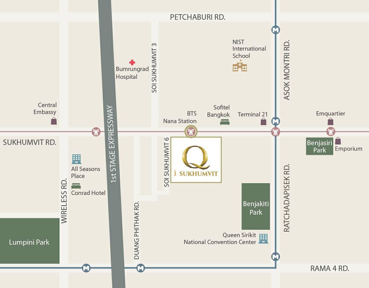Q1 Sukhumvit Map